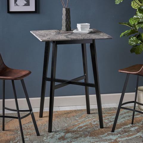 Daisy Modern Bar Table with Rubberwood Legs and Laminate Table Top
