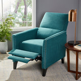 Alexis Contemporary Fabric Push Back Recliner