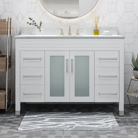 "Holdame Contemporary 48"" Wood Bathroom Vanity (Counter Top Not Included)"
