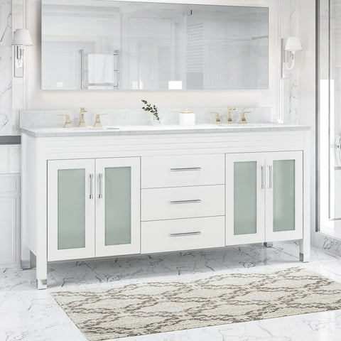 "Holdame Contemporary 72"" Wood Bathroom Vanity (Counter Top Not Included)"