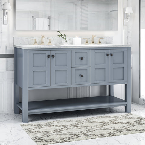 "Jamison Contemporary 60"" Wood Bathroom Vanity (Counter Top Not Included)"