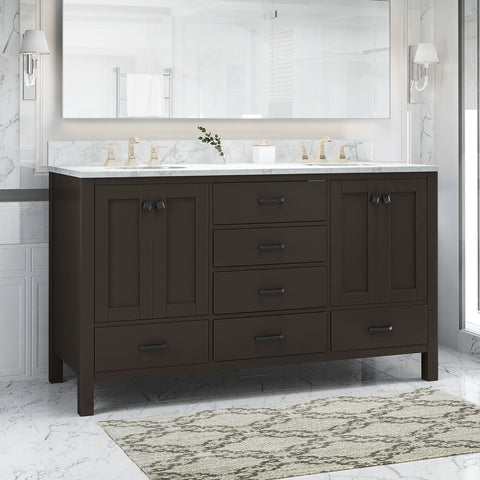 "Laranne Contemporary 60"" Wood Bathroom Vanity (Counter Top Not Included)"