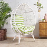 Keondre Indoor Wicker Egg Shape Chair with Cushion