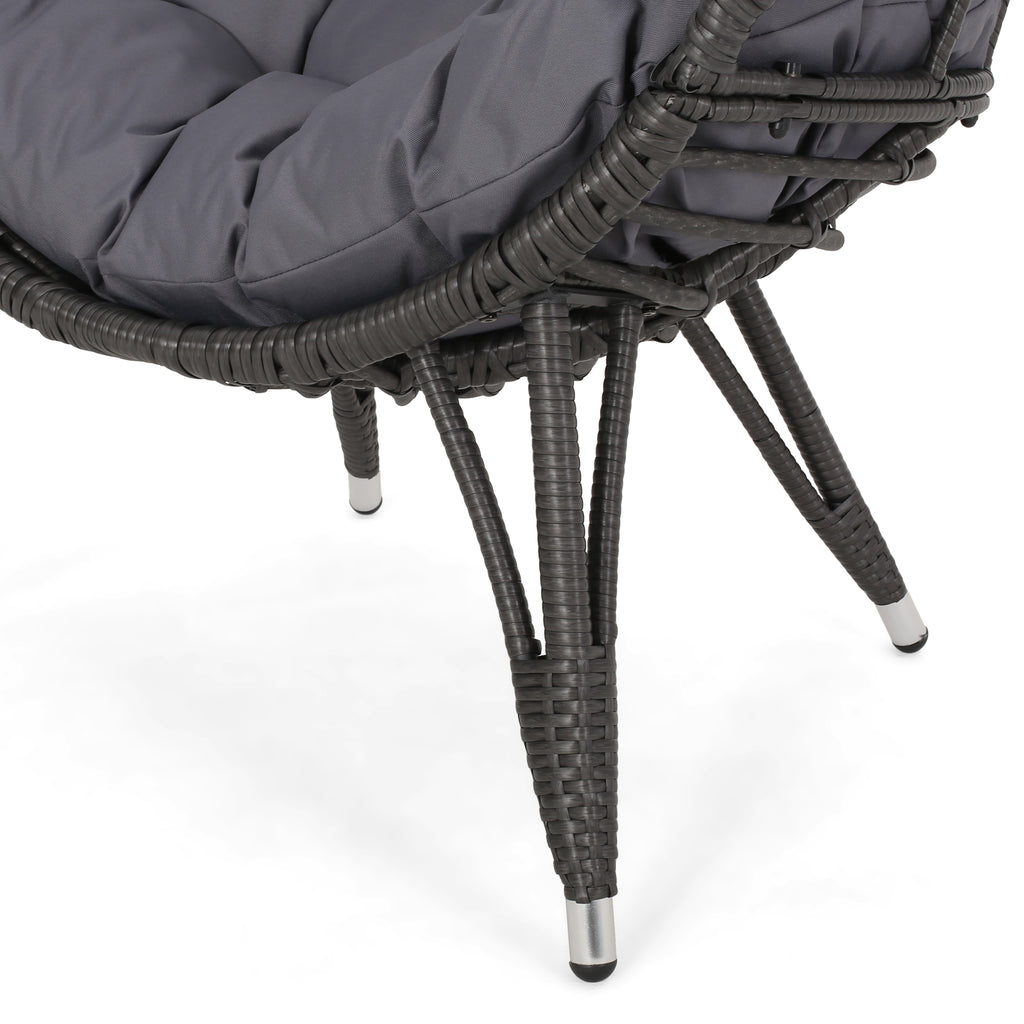 Maylee Outdoor Wicker Teardrop Chair with Cushion