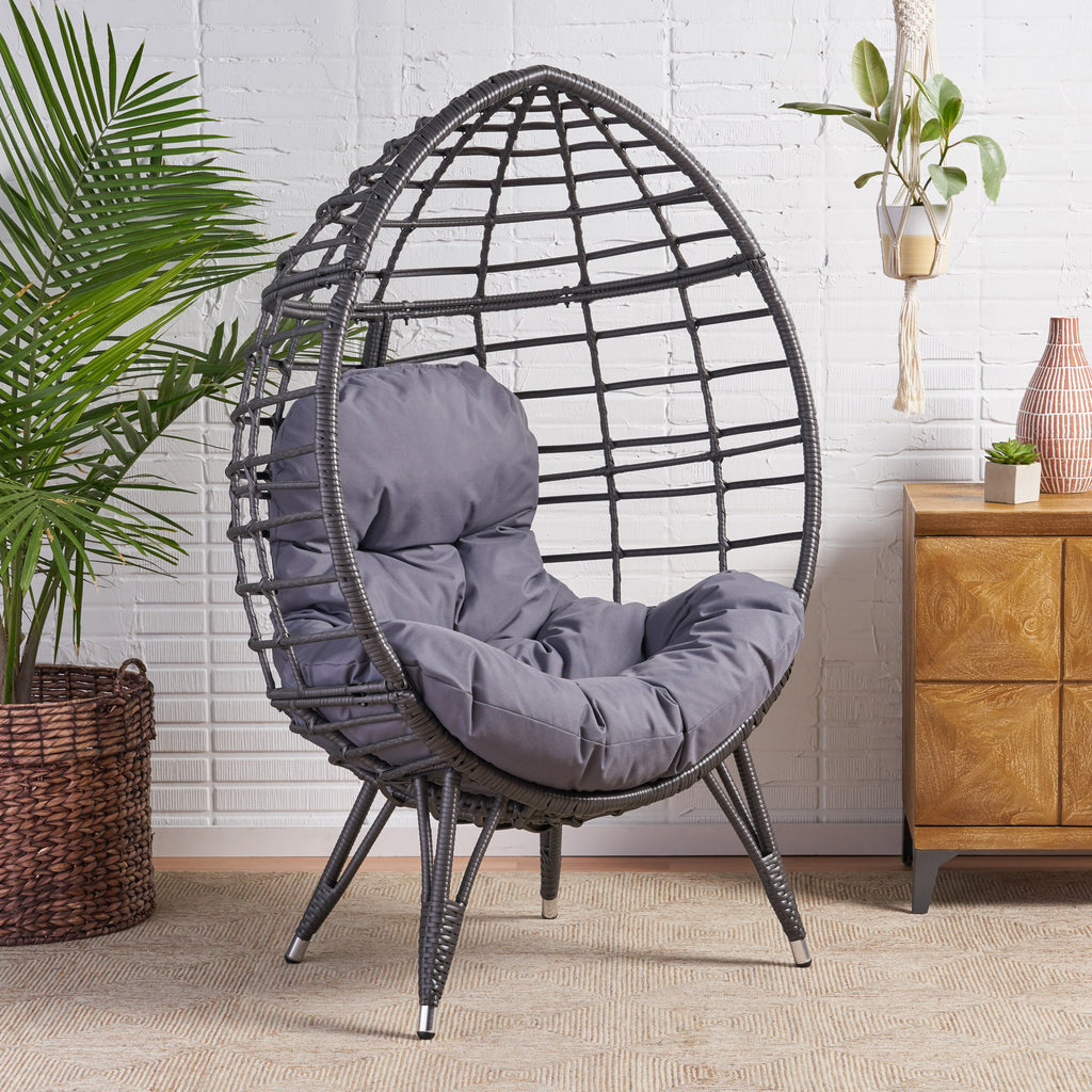 Tris Indoor Wicker Egg Chair with Cushion