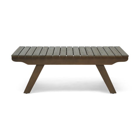 Kailee Outdoor Wooden Coffee Table, Gray Finish