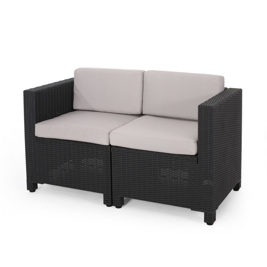 Farirra Outdoor Faux Wicker 8 Seater Chat Set with Cushions