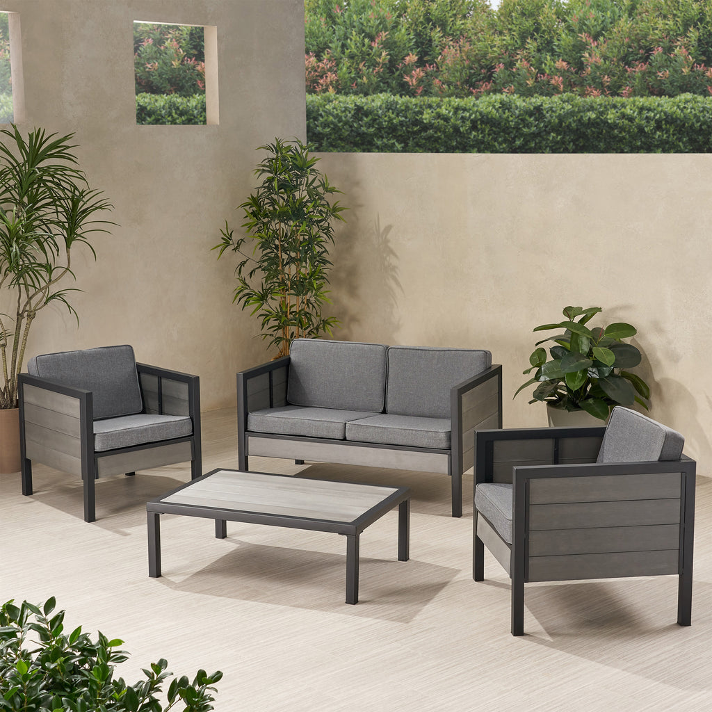Grace Outdoor 4 Seater Chat Set with Cushions