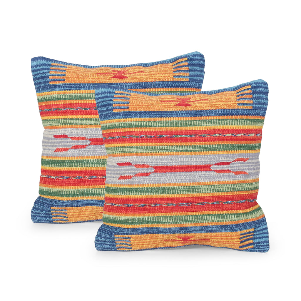 Lisset Boho Cotton Throw Pillow (Set of 2)