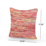 Indee Boho Cotton and Wool Pillow Cover (Set of 2)