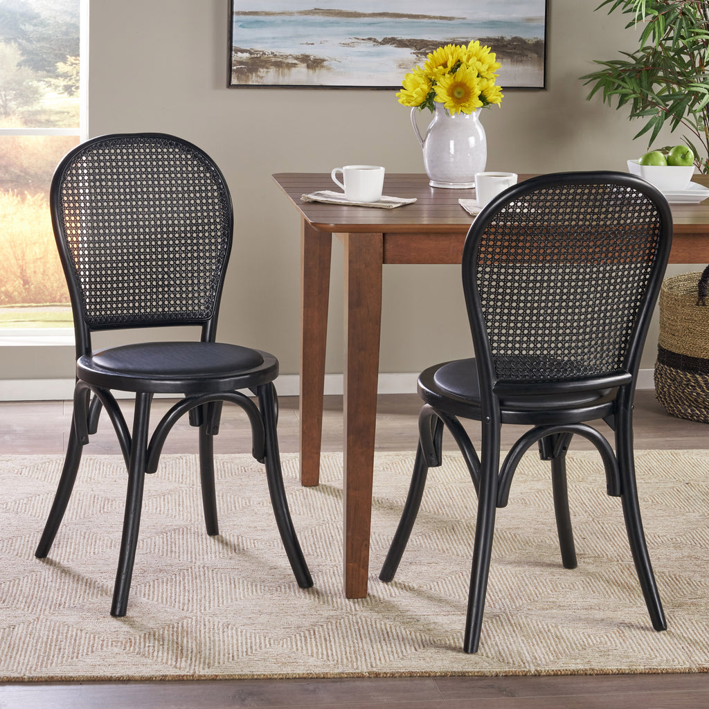 Emerys Wooden Cane Back Dining Chair (Set of 2)