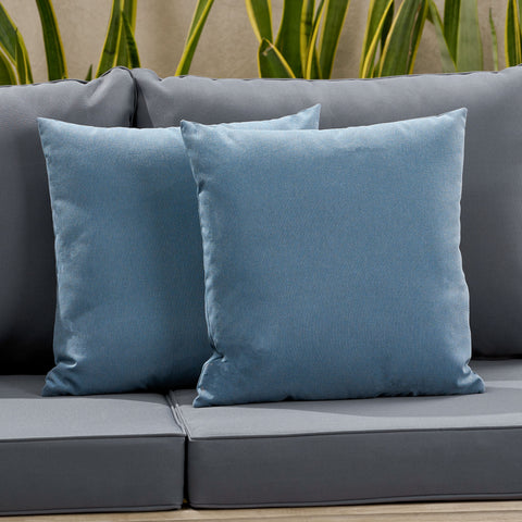 Karalynn Outdoor Modern Square Water Resistant Fabric Pillow (Set of 2)