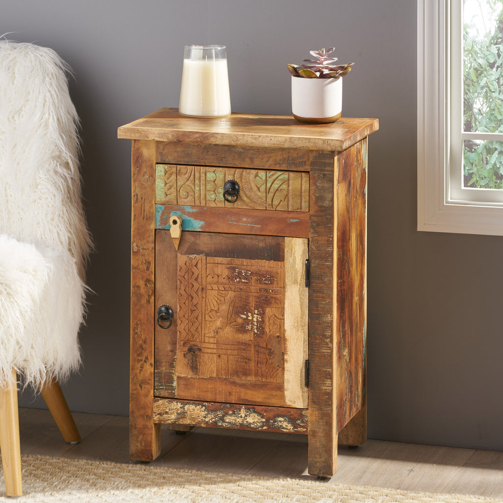 Nancy Distressed End Table