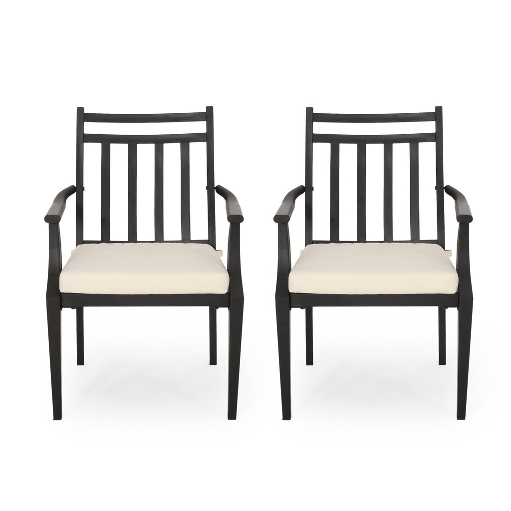Olive Outdoor Dining Chair with Cushion (Set of 2)