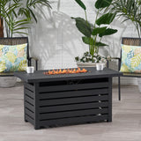 Moira Rectangular Iron Fire Pit