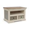 Drax Shabby Wooden 2 Drawer & Shelf TV Stand