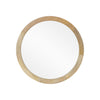 Heather Modern Round Mirror with Mango Wood Frame