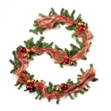 9-foot Noble Fir Pre-Lit Warm White LED Pre-Decorated Artificial Christmas Garland