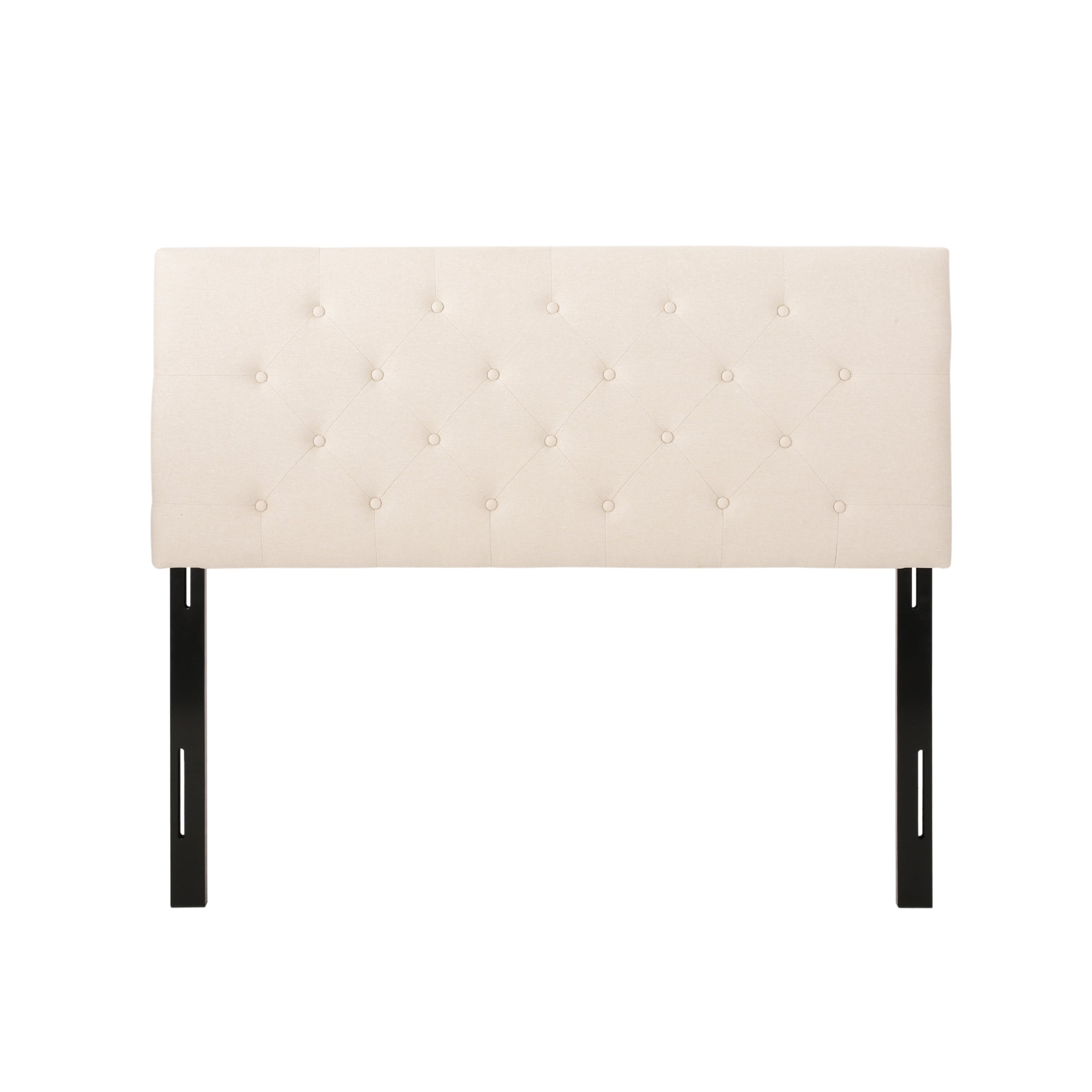 Agnes Contemporary Upholstered Headboard Black
