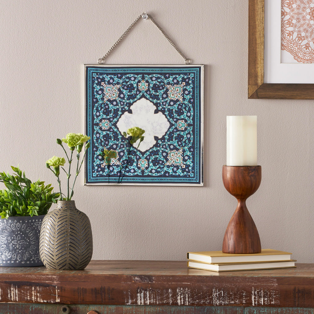 Marjorie Oriental Tempered Glass Wall Accessory