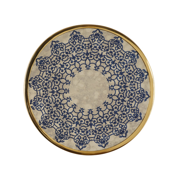 Sinaya Oriental Round Tempered Glass Wall Accessory