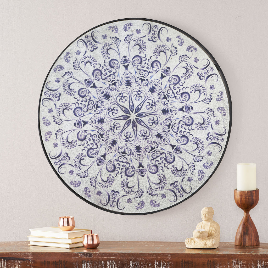 Georgia Antique Round Mandala Mirror
