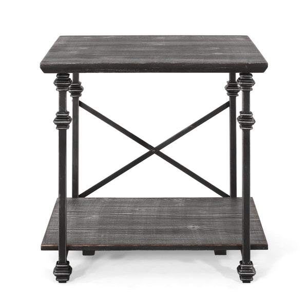 Mckynna Modern Industrial End Table