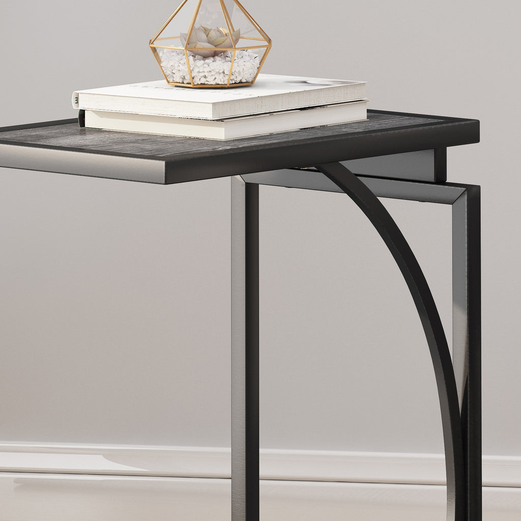 Catileya Modern Industrial C-Shaped End Table