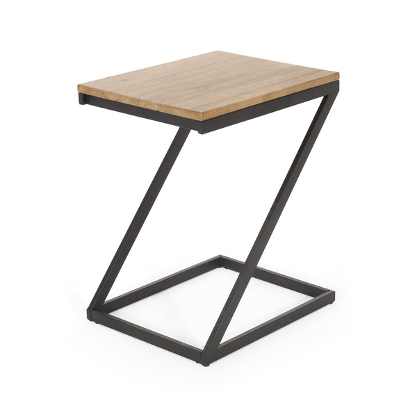 Shalynn Modern Industrial Side Table