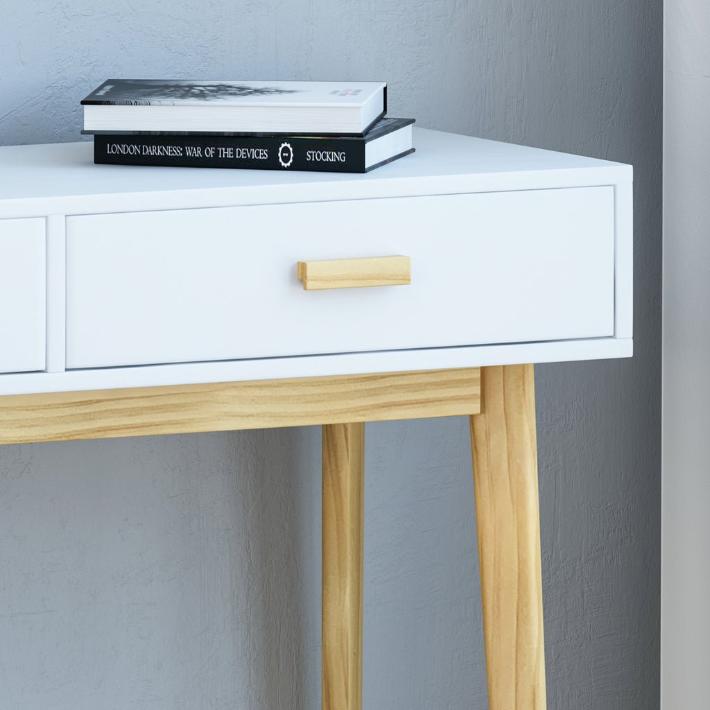 Eila Mid-Century Modern 2 Drawer Console Table