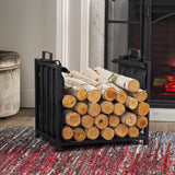 Kabria Cosada Iron and Canvas Fireplace Log Holder