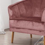 Salazar Glam Velvet Club Chair