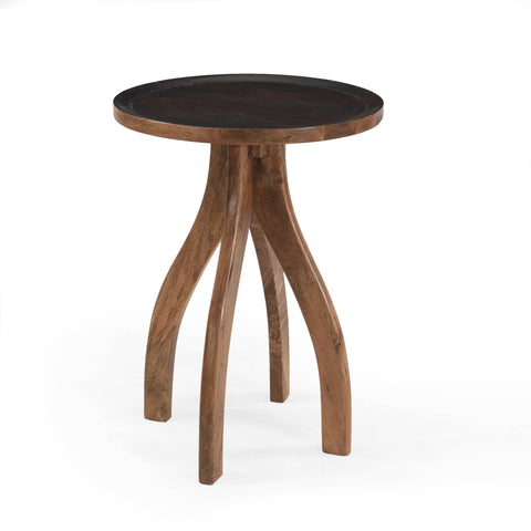 Adaiyah Boho Mango Wood End Table