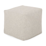 Rakiya Contemporary Fabric Pouf