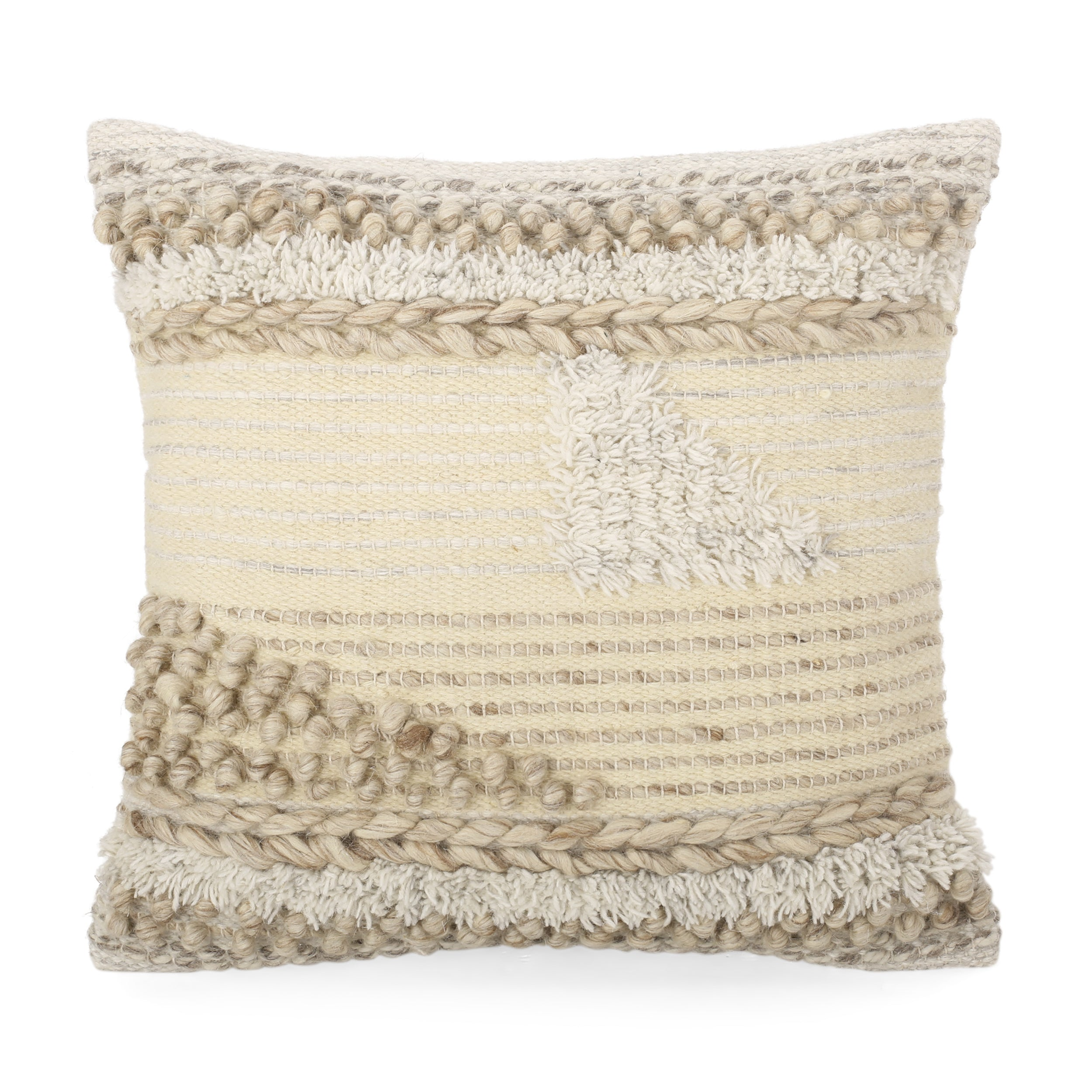 Afsheen Hand Loomed Boho Throw Pillow Multicolor