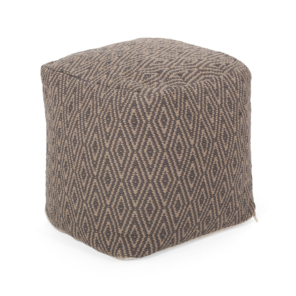Sovereign Hand-Crafted Cotton Cube Pouf