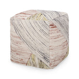 Julliana Traditional Hand Woven Boho Fabric Cube Pouf