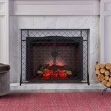 Memori Contemporary Iron Fireplace Screen