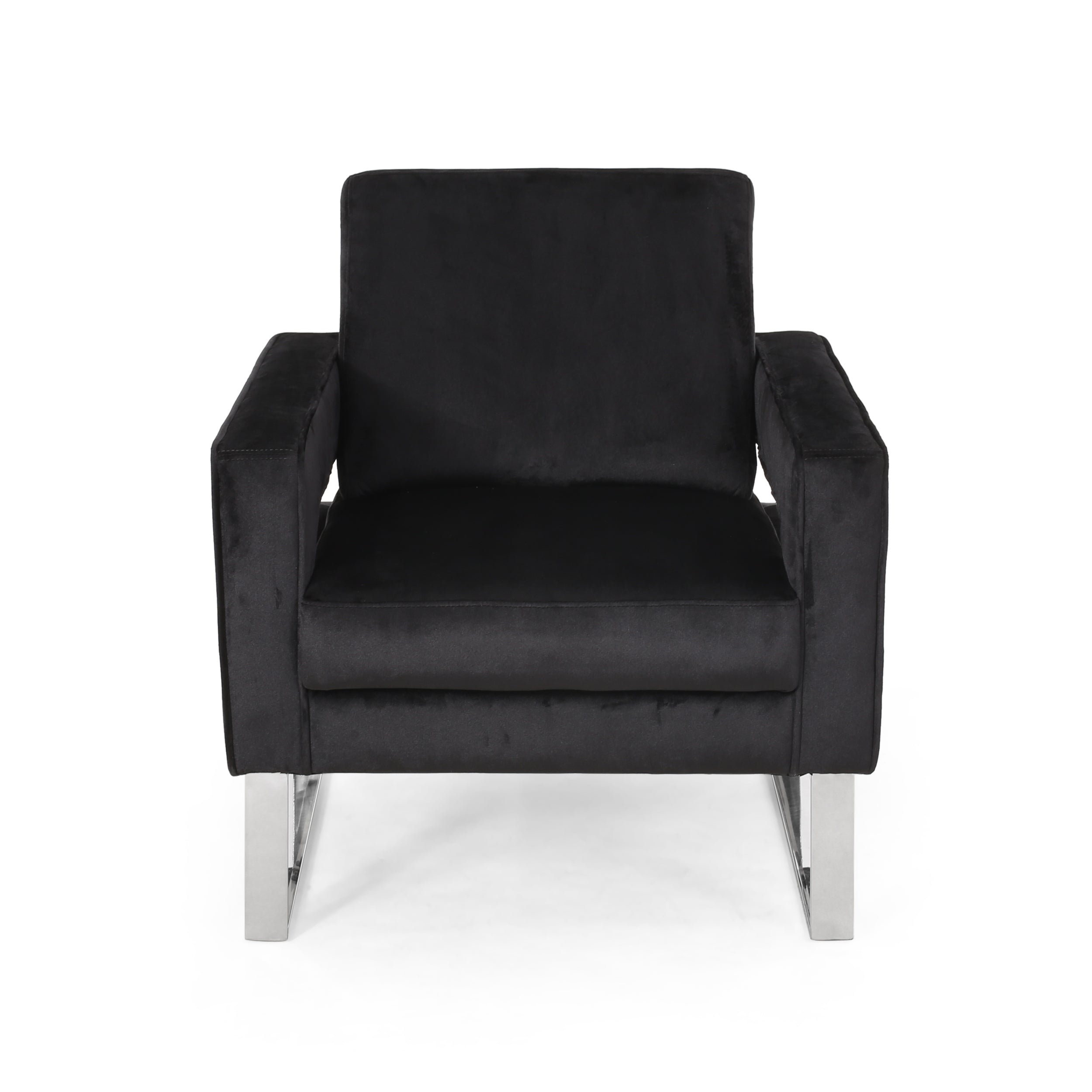 Alitzel Modern Glam Velvet Club Chair Black