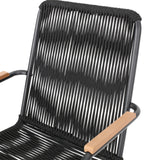 Laycee Modern Outdoor Rope Weave Club Chair (Set of 2)