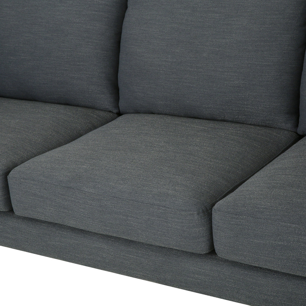 Zoha Modern Fabric 3 Seater Sofa