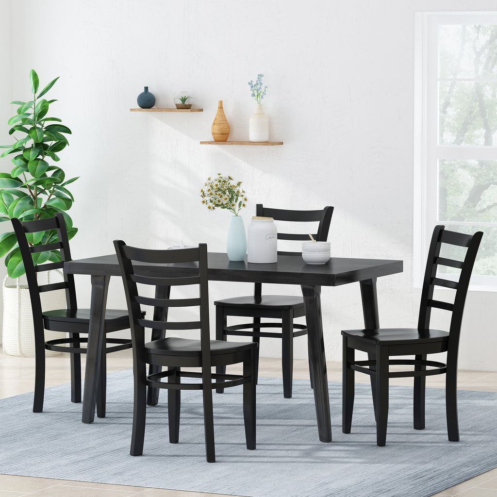Wagner Farmhouse Wooden Dining Chairs Set Of 4 Gdfstudio