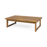Kedan Outdoor Acacia Wood Coffee Table