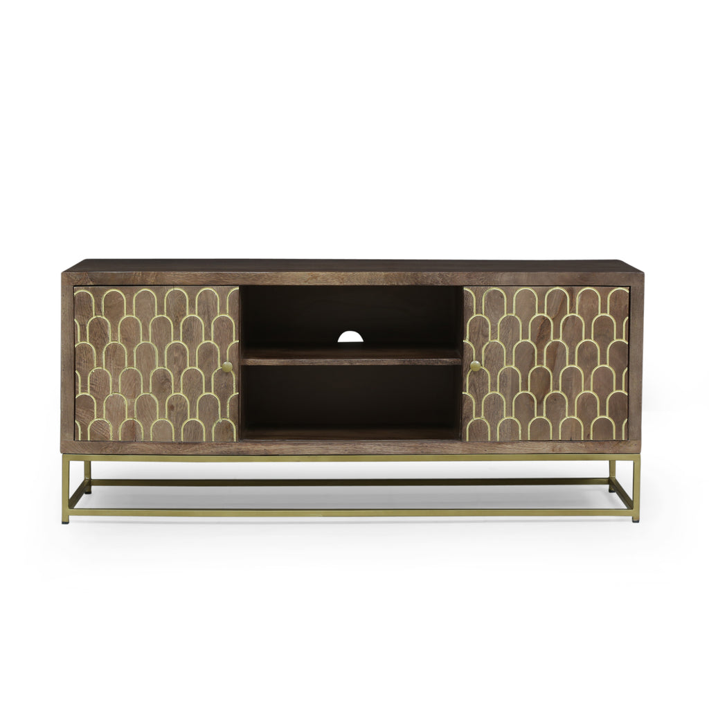 Javayah Contemporary Wooden TV Stand