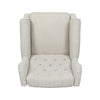 Breyon Contemporary Tufted Fabric Push Back Recliner