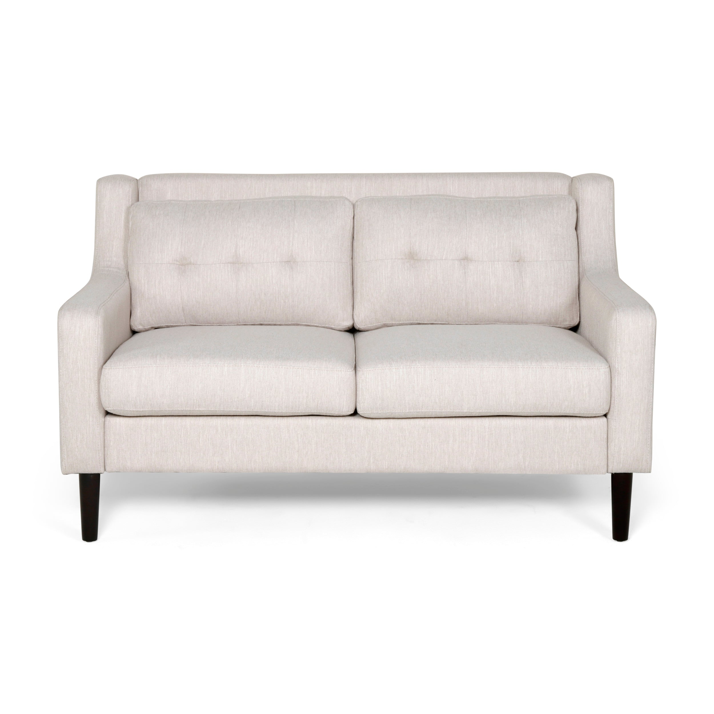 Anaysha Contemporary Fabric Loveseat Beige