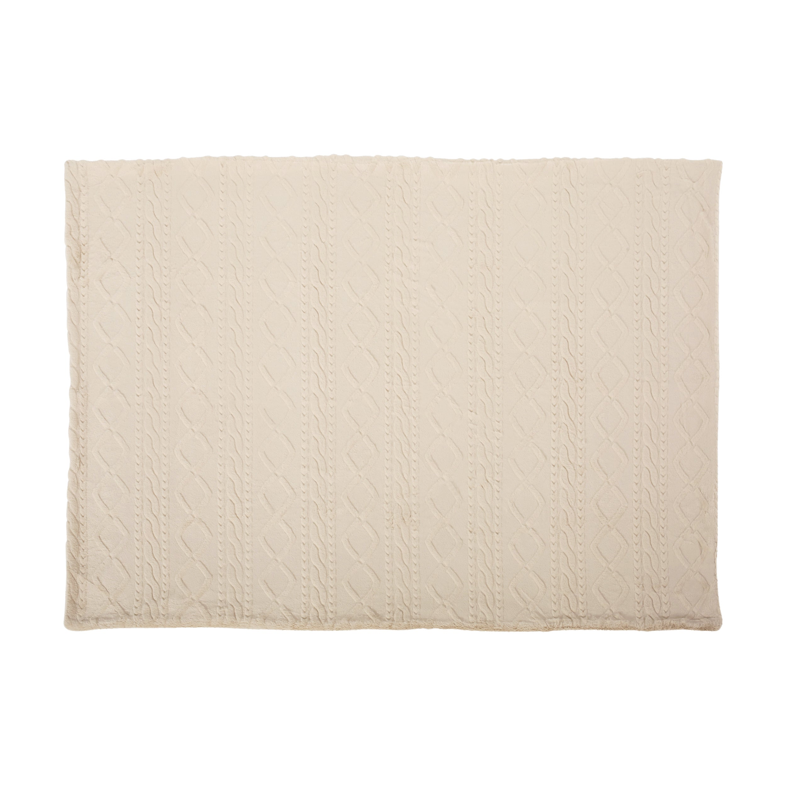 Alric Faux Fur Throw Blanket Taupe