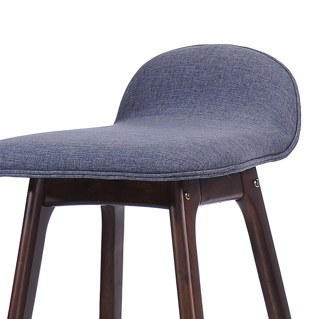 Tolle 29-Inch Mid-Century Design Low Back Fabric Bar Chair (Set of 2)