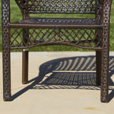 Malibu 5pc Outdoor Wicker Dining Set