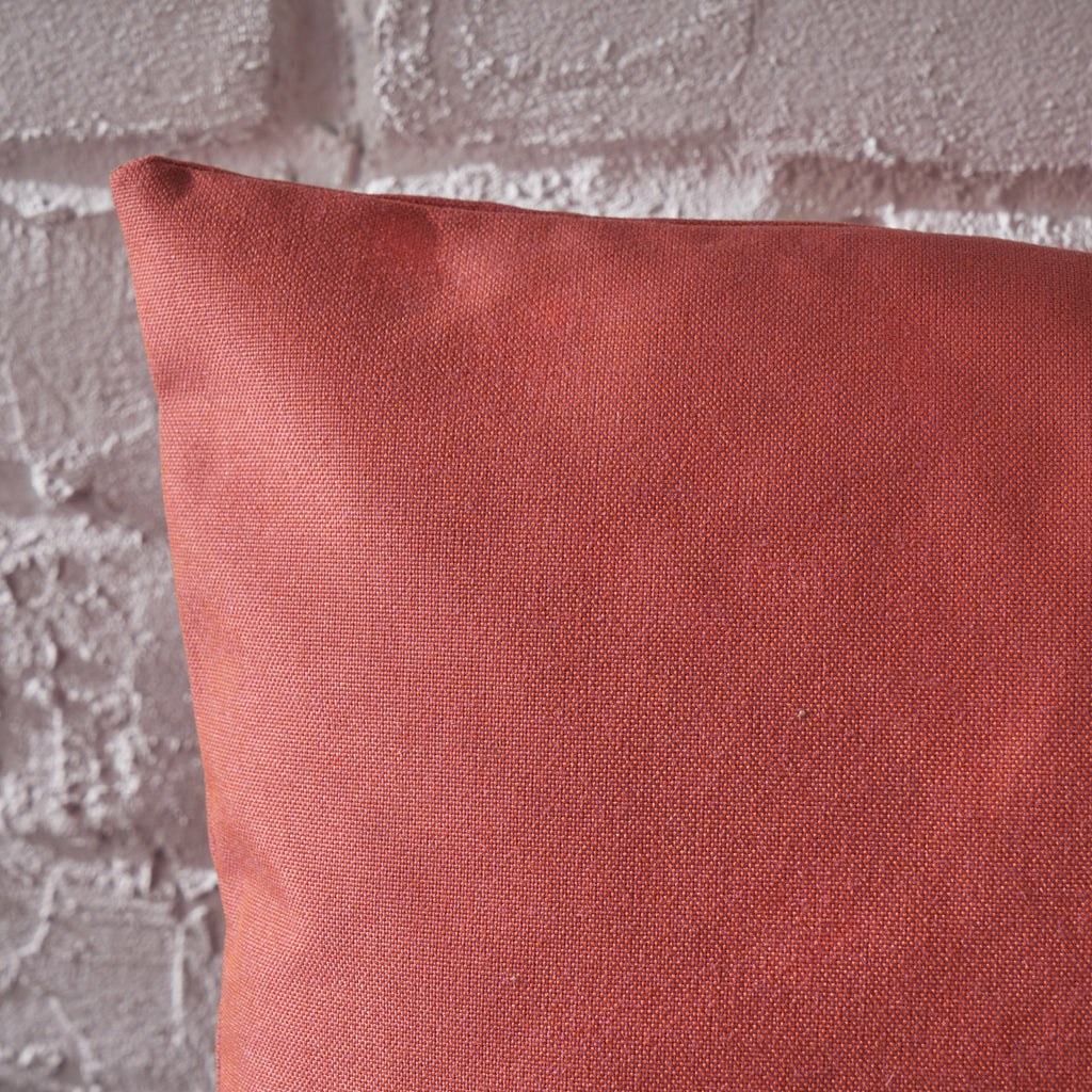 Kaffe Indoor Red Water Resistant Square Throw Pillow